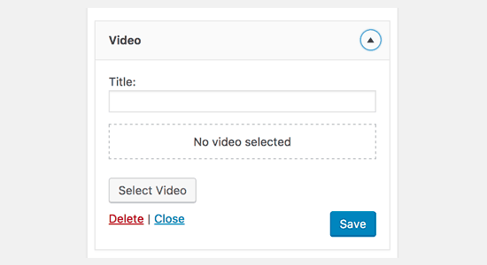 New video widget in upcoming WordPress 4.8