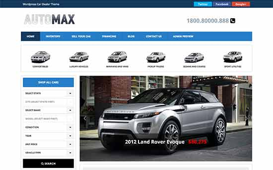 21 Best WordPress Themes for Car Dealerships (2017)
