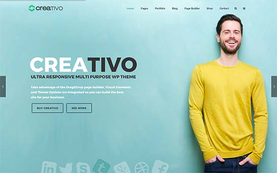 27 best wordpress themes for graphic designers 2017 creativo is an all purpose wordpress theme with 11 ready made websites that can be installed with 1 click these demo websites include one for creative accmission Choice Image