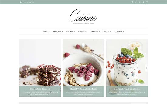 22 best wordpress themes for recipe and food blogs 2018 cuisine is a stylish wordpress theme made specifically for food and recipe websites it ships with a custom recipe plugin that allows you to easily add and forumfinder Choice Image