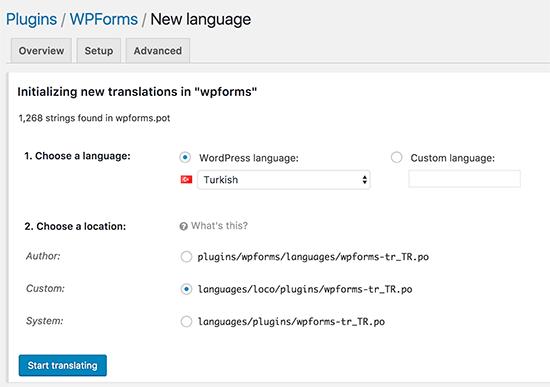 Een nieuwe taal toevoegen in Loco Vertalen