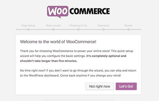 WooCommerce-installatiewizard