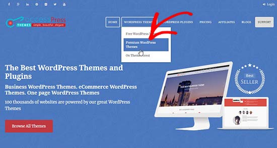 AccessPress Themes website