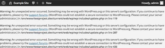 Beveiligde verbindingsfout in WordPress
