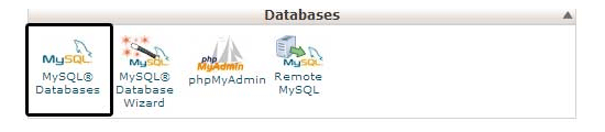 Databasepictogram in CPanel