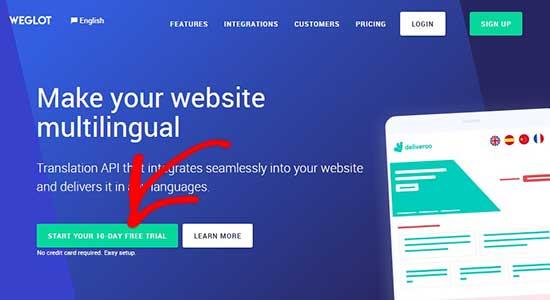 Weglot website