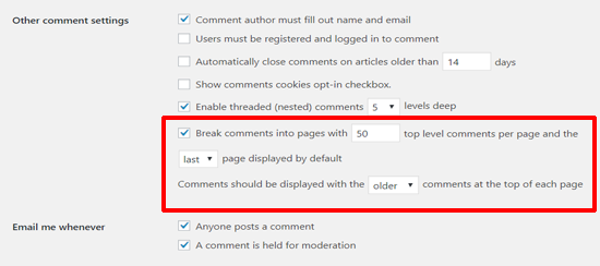 Break Comments into Pages in WordPress Posts