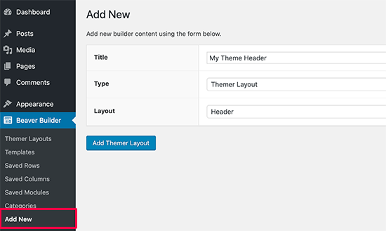 Creating a custom header layout