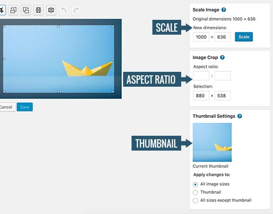 How to Do Basic Image Editing in WordPress (Crop, Rotate, Scale, Flip)