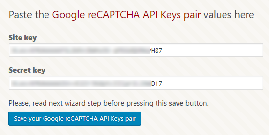 Add Google API keys to WordPress site