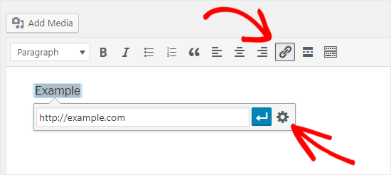 Add Link to WordPress Classic Editor
