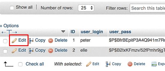 Kullanıcıyı düzenle