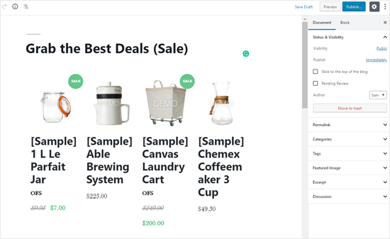 BigCommerce Products List in WordPress Post