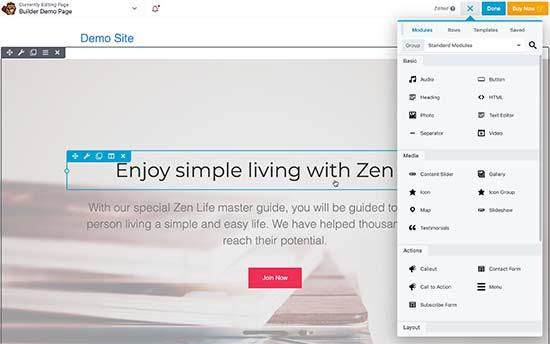 Utiliser Beaver Builder pour concevoir des pages dans WordPress