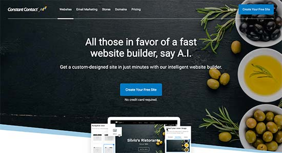 Constructeur de site Web de contact constant