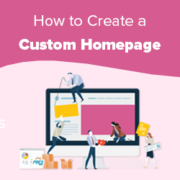 How to Create a Custom Home Page in WordPress