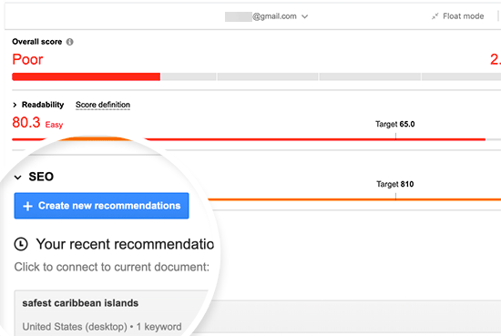 Generate SEO recommendations
