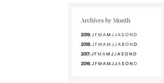 Compact archives with initials only