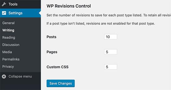 WP Revizyon Kontrolü