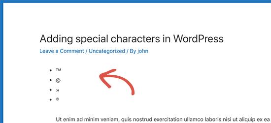 Entità HTML convertite in caratteri speciali