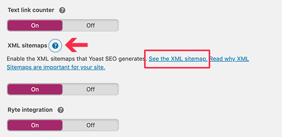 View your XML sitemap