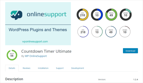 The Countdown Timer Ultimate WordPress plugin page