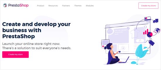 La prima pagina di PrestaShop