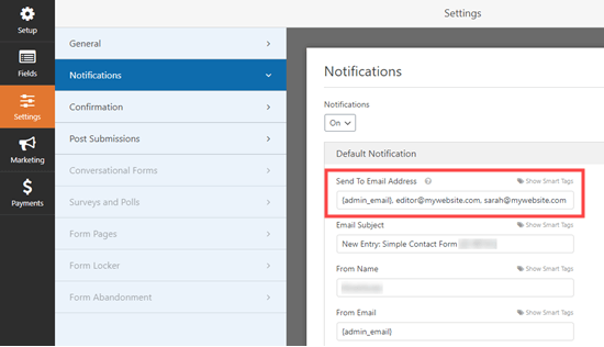 Sending multiple identical email notifications in WPForms