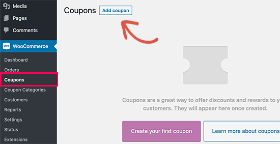 Add coupon button