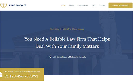 Astra Lawyer Theme