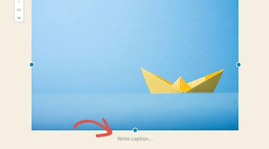 Scrivi didascalia per un'immagine in WordPress