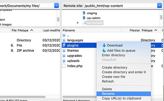 Rename plugins folder