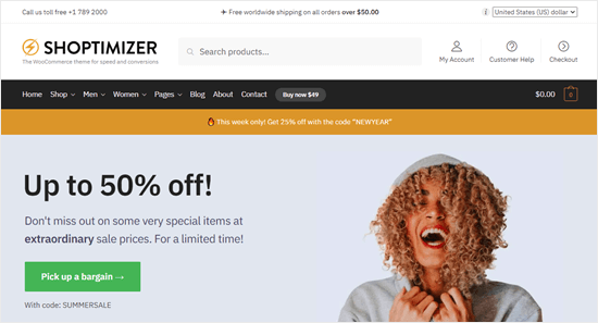 The Shoptimizer theme
