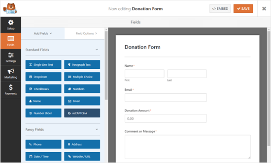 Modify your form in WPForms