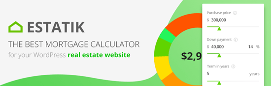 WordPress Mortgage Calculator Estatik