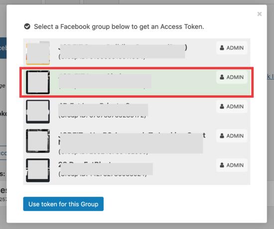 Collega il tuo gruppo Facebook