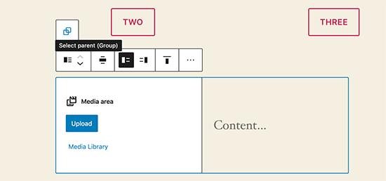 Spostare i blocchi in WordPress 5.5
