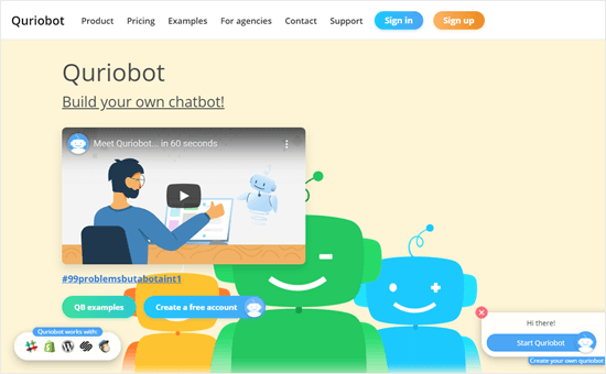 The Quriobot website