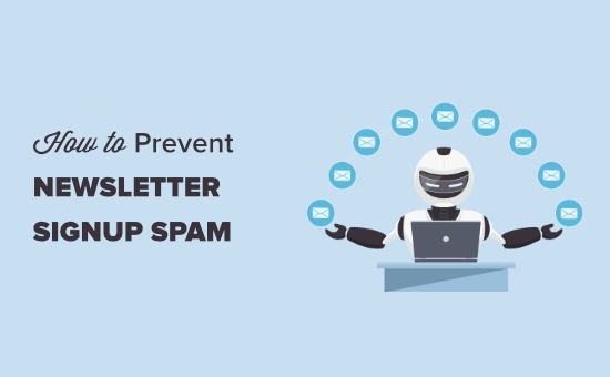Preventing newsletter signup spam in WordPress