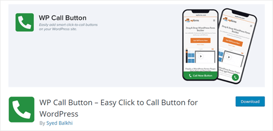 The WP Call Button plugin