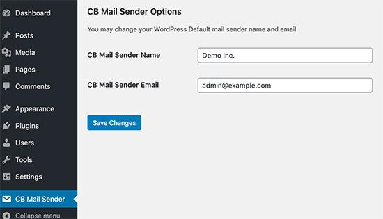 CB Mail Sender