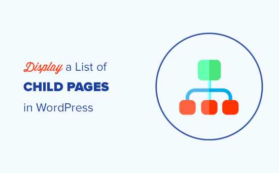 Displaying a list of child pages for a parent page in WordPress