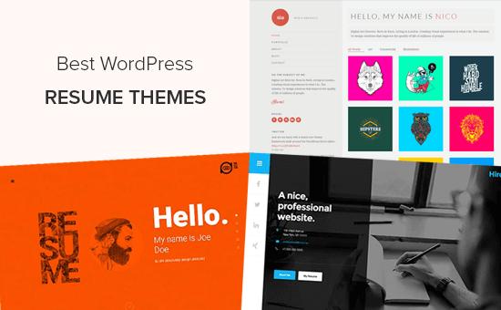 Best WordPress Resume Themes for Online CV