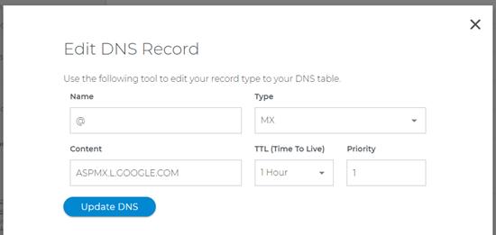 Een MX-record wijzigen en bijwerken met Domain.com