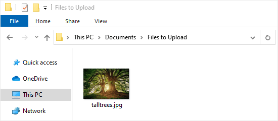 The file extension is now displaying