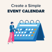 How to Create a Simple Event Calendar with Sugar Calendar