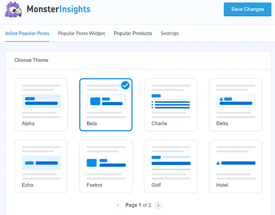 MonsterInsights Popular Post Templates