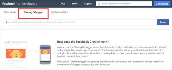 L'outil de partage de débogage Facebook